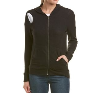 Nwt Chaser Zippered Hoodie With Cut Outs Medium